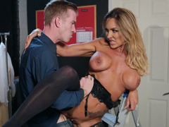 Aubrey Black shows his big cock what pleasure really is